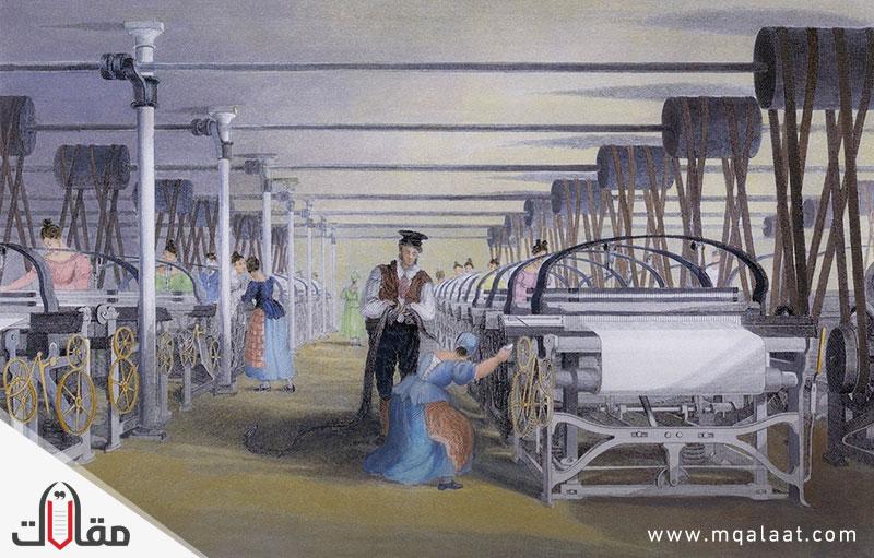 اين بدات الثورة الصناعية