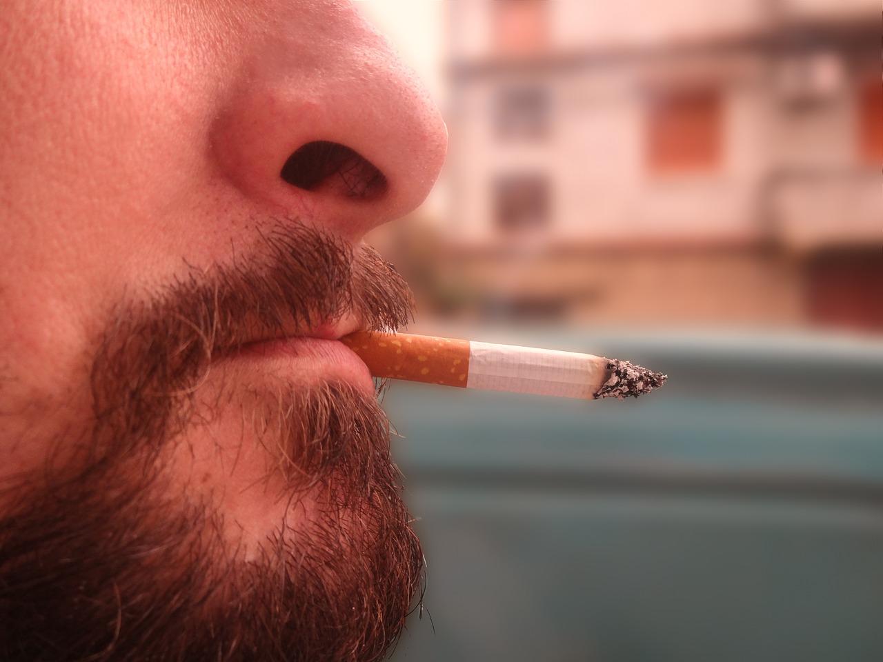 اثار التدخين على الوجه