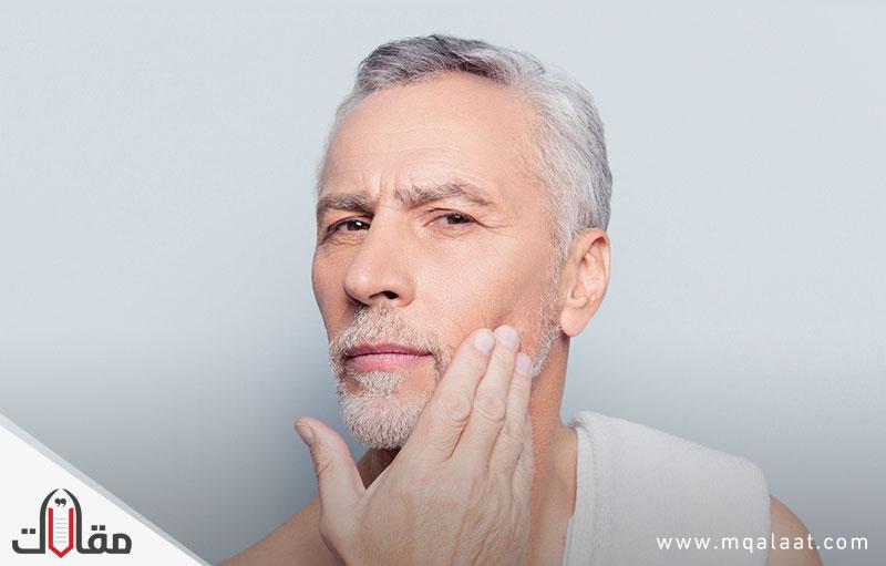 علاج تجاعيد الوجه للرجال
