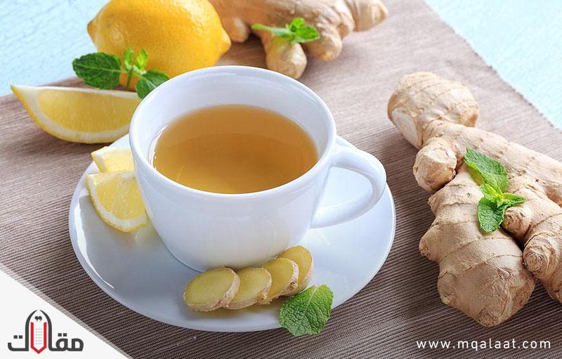 فوائد الشاي الاخضر مع الزنجبيل