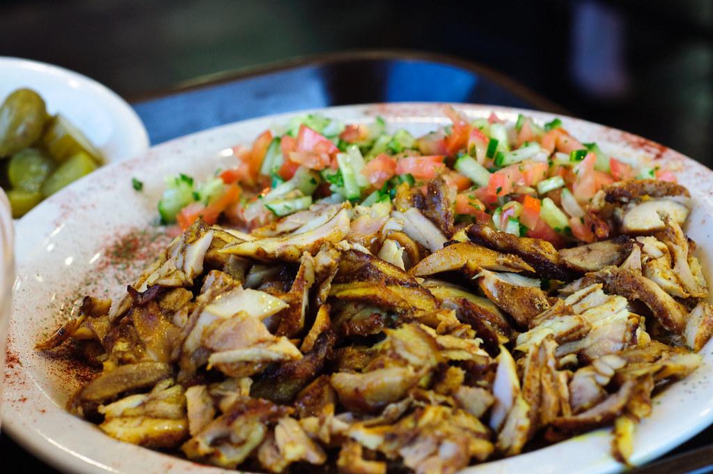 السعرات الحرارية في شاورما الدجاج بدون خبز