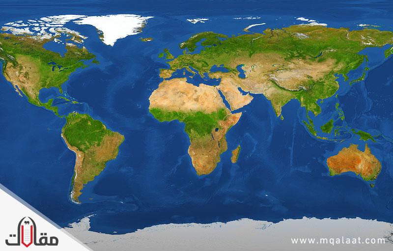 قارات العالم الموقع والمساحة