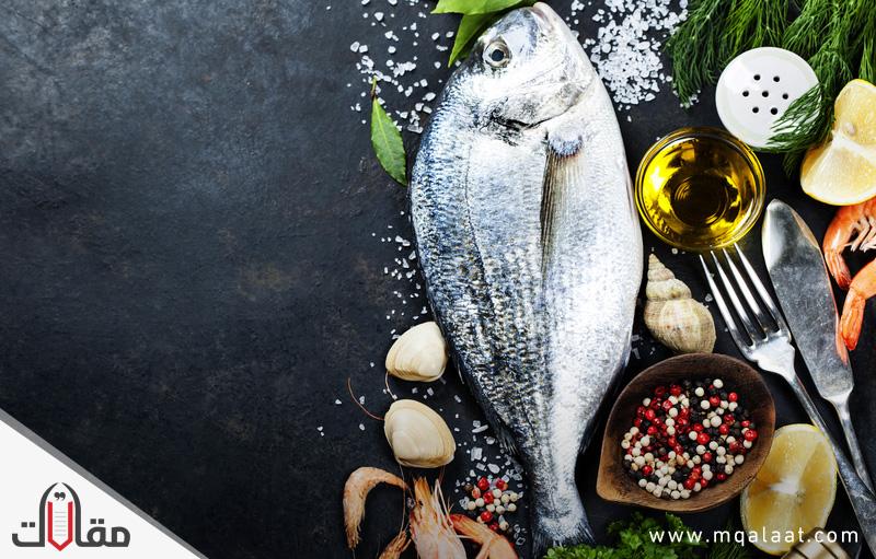 فوائد المأكولات البحرية
