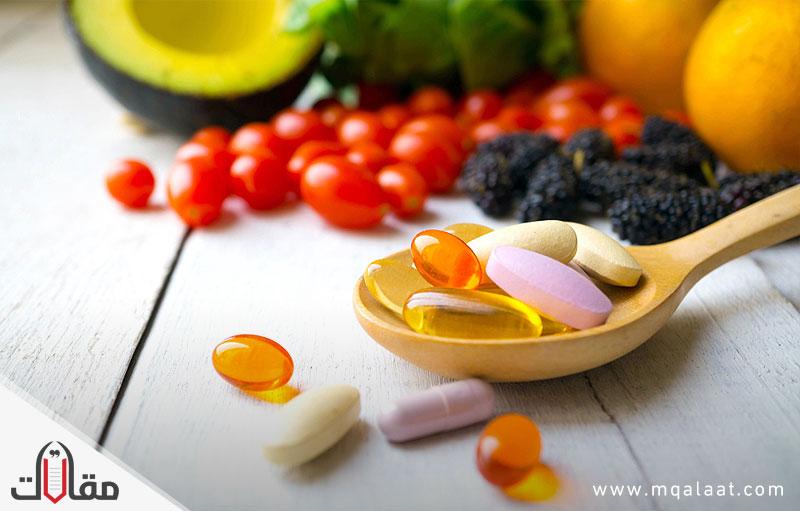 فيتامينات للشعر والبشرة
