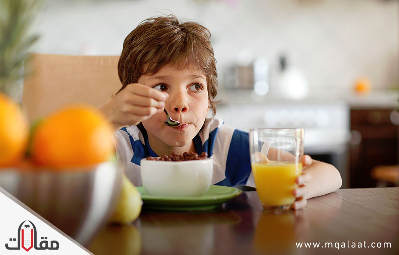 لا تهمل وجبة الافطار لطفلك