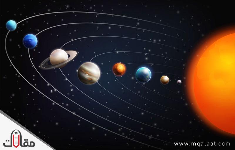 مكونات النظام الشمسي