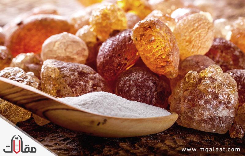 انواع الصمغ العربي